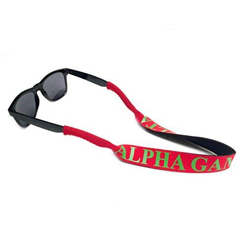 Alpha Gamma Delta Sunglasses Holder for Sunglasses Sorority Greek Beach Sunny Day Alpha - Delta Sun