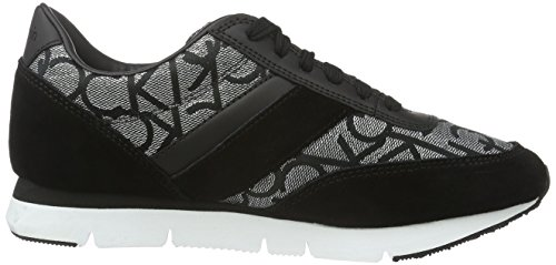 Femme Jeans Multicolore Basses Suede Metallic Black Silver Jacquard Calvin Klein Tea Sneakers Noir 8qvncU5