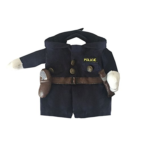 Picture of NACOCO Pet Policeman Costumes Dog Cat Halloween Suits (X-Large)