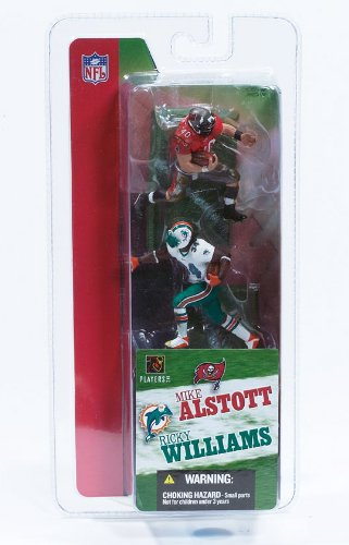 - MIKE ALSTOTT / TAMPA BAY BUCCANEERS & RICKY WILLIAMS / MIAMI DOLPHINS * 3 INCH * McFarlane's NFL Sports Picks Series 1 Mini Figure 2-Pack