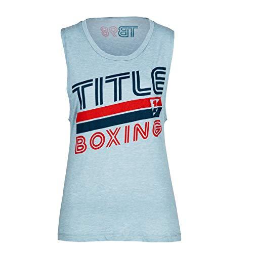 Title Boxing Women's Vintage Muscle Tee, Blue, Medium