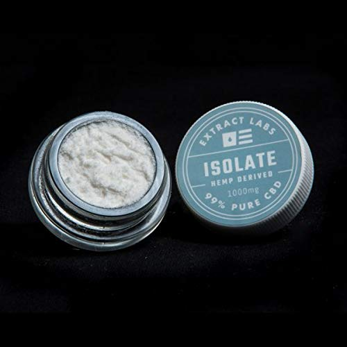 Hemp Oil Isolate Powder 1g Genuine 99% Purity, Lab Tested (Simply add to Your Favorite Cooking Oil) Extract Labs 1000mg Pure Hemp Isolate Powder