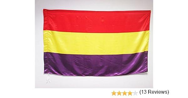 BANDERA DE LA REPUBLI BANDERA ESPAÑA REPUBLICANA SIN ESCUDO 150x90cm para palo