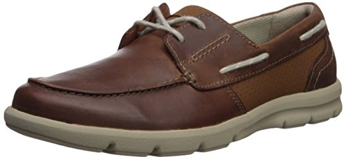 Clarks Men's Jarwin Edge Sneaker, Tan Leather, 11 Medium US by CLARKS