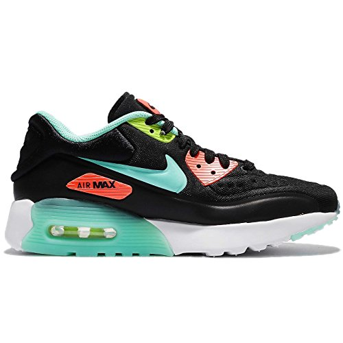Nike AIR MAX 90 ULTRA SE (GS) girls running-shoes 844600-001_6Y - BLACK/HYPER TURQ-BRIGHT MANGO-VOLT