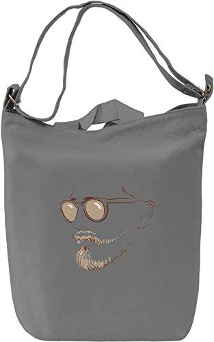 Man with The Sunglasses Borsa Giornaliera Canvas Canvas Day Bag| 100% Premium Cotton Canvas| DTG Printing|