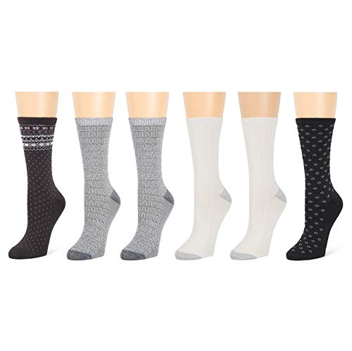 Cuddl Duds Java Pack of 6 Women's Socks