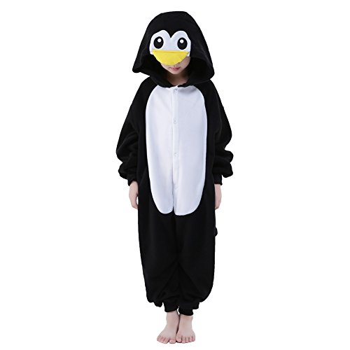 NEWCOSPLAY Unisex Children Penguin Pyjamas Halloween Costume (6-Height 50-52