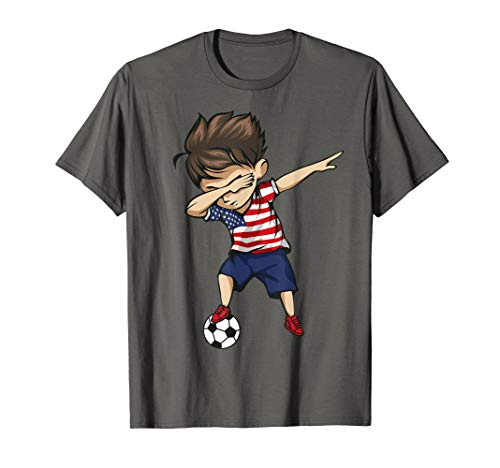 15642d333 Dabbing Soccer Boy United States Jersey Shirt - USA Football