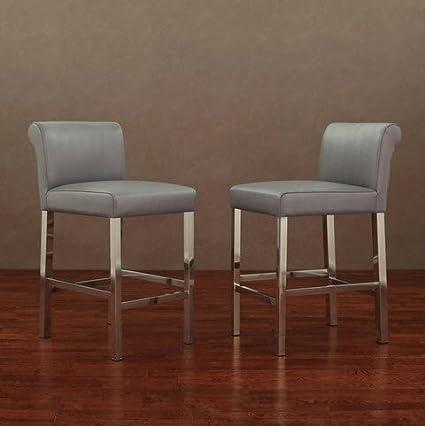 Amazon Com Cosmopolitan Stainless Steel Charcoal Snake Upholstered