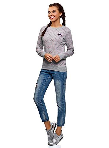 Algodón Oodji Estampado Mujer 2341d Ultra Suéter De Gris xFwZAFqC