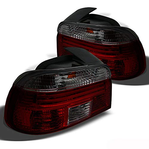 Xtune for Red Smoked 1997-2000 BMW E39 5-Series Tail Lights Lamp Pair Left+Right/1998 1999NOT FIT Wagon ()