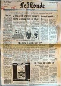 MONDE (LE) [No 14027] du 03/03/1990 - PARLER NET - LA VISITE DE MM. JARUZELSKI ET MAZOWIECKI CONFIRME LE SOUTIEN DE PARIS A LA POLOGNE - RFA-RDA, LE COUT D'UNE OPA PAR ERIK IZRAELEWICZ - L'ANNEE 1989 DANS LE MONDE PAR EDOUARD MASUREL - UN MONDE SANS URSS