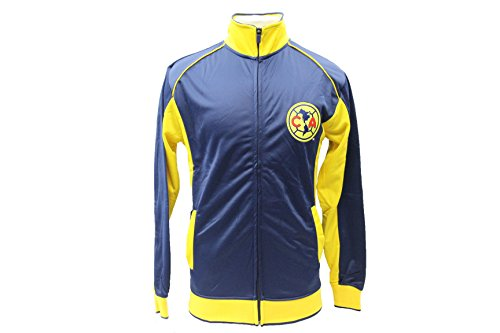 Football America Adult Football (Club America Jacket Track Soccer Adult Sizes Soccer Football Official Merchandise Small Blue)