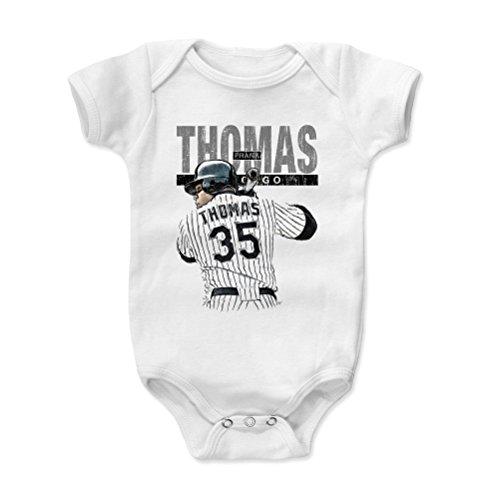 Chicago Sox Onesie White (500 LEVEL Frank Thomas Baby Clothes, Onesie, Creeper, Bodysuit 3-6 Months White - Vintage Chicago Baseball Baby Clothes - Frank Thomas Sketch K)