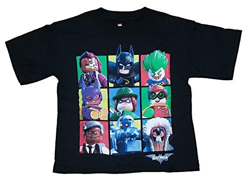 Boys DC Comics Lego Batman Movie Character Blocks Black Graphic T-Shirt - Small]()