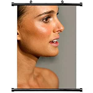 Girly Wall Posters,Natalie Portman Brunette Face Profile Makeup Stylish and Custom Wall Scroll Poster Fabric Painting 23.6 X 35.4 Inch (60cm X 90 cm)