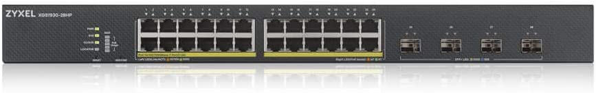 24-port GbE Smart Managed PoE with 4 SFP+ Uplink ZyXEL XGS1930-28HP