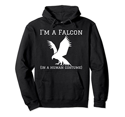 Unisex Funny Novelty Falcons Hoodie I'm a Falcon in a Human Costume 2XL Black
