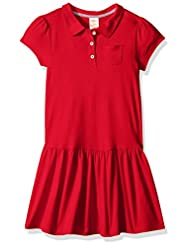 Gymboree Little Girls\' School Uniform Polo Dress, Red, 7