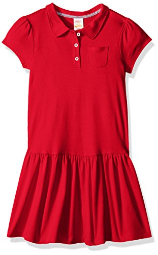 Red School Dress (Gymboree Little Girls' School Uniform Polo Dress, Red, 10)