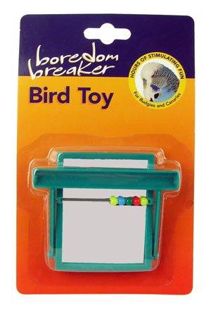 Boredom Breaker Bird Toy Beaded Perch Mirror Green Pets Bird Care 5025659220789 NA