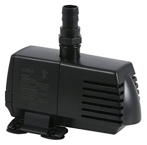 EcoPlus 728310 Pump, Fixed Flow Water 396 GPH, Black