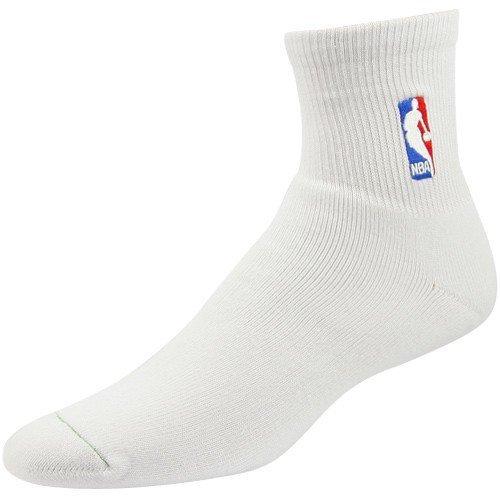 Feet For Nba Socks Bare Quarter - For Bare Feet NBA Logoman White Quarter Socks Child Size Kids Socks - 2 Pack