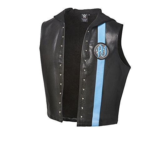 WWE AJ Styles ''P1'' Black/Carolina Blue Authentic Vest Black Small by WWE Authentic Wear