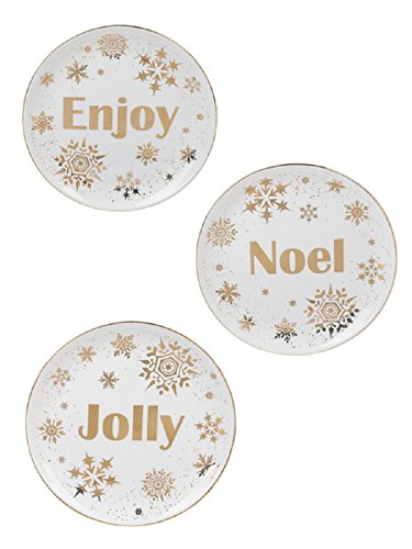 Snowflake Appetizer - Ganz Snowflake Radiance Appetizer Plates Set of 3 Assorted
