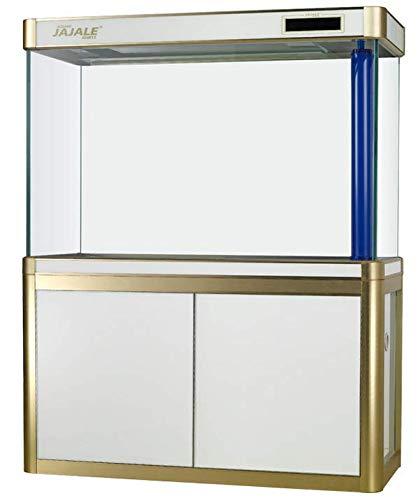 JAJALE 100 Gallon Glass Fish Tank Aquarium with LED Light and Stand Bundle -