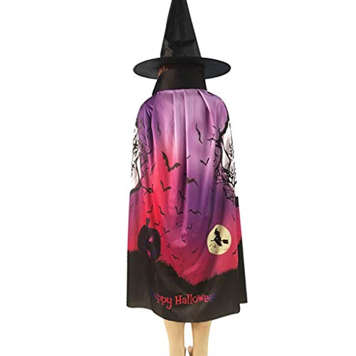 Halloween Event Names (Fine Halloween Witch Cloak Set, Cosplay Props Halloween Digital Print Cloak and Spire Witch Hat Stage Performances Photography, Clothing)