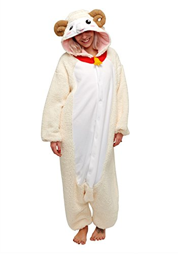 Sheep Kigurumi ,White,Adults]()