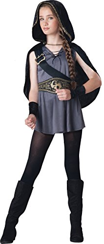 InCharacter Girls Hooded Huntress Kids Child Fancy Dress Party Halloween Costume, M (10-12) -