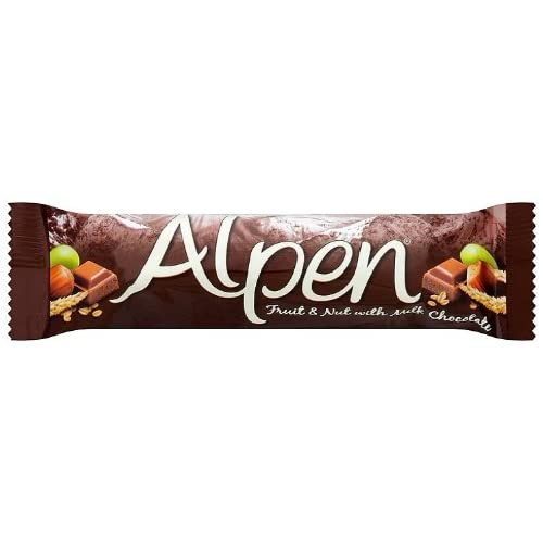 Alpen Fruit and Nut With Milk Chocolate Cereal Bar 29 g (Pack of 24)