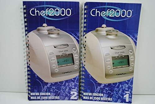 Dos RECETARIOS Robot para Robot DE Cocina Chef 2000 Turbo Inteligente: Amazon.es