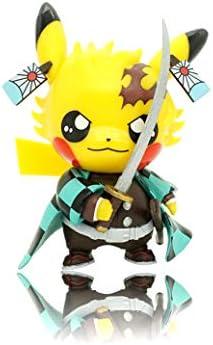 JASDEV Pikachu Action Figure Cosplay Demon Slayer Kamado Tanjirou Statues Figures 4″ Collection Birthday Gifts PVC (Kamado Tanjirou)