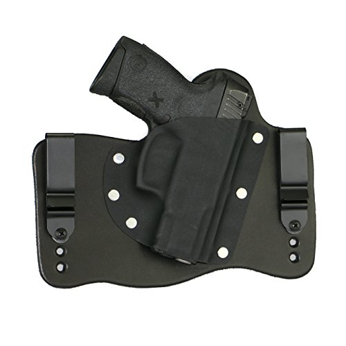 (FoxX Holsters Taurus Millenium G2C in The Waistband Hybrid Holster Tuckable, Concealed Carry Gun Holster (Black))