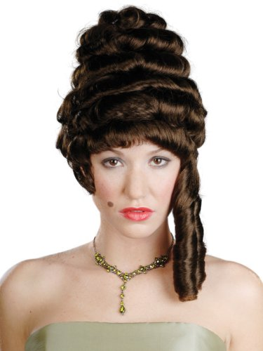 Ladies Colonial Wig (Enigma Wigs Women's Colonial Lady, Brown, One Size)