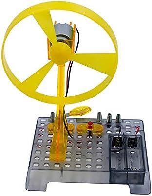 GHTTHJ Kit De Experimento De Física - Ventilador Eléctrico, para Niños (Mayores De 8 Años) Rompecabezas Ensamblar Juguetes Educativos Divertidos: Amazon.es: Deportes y aire libre