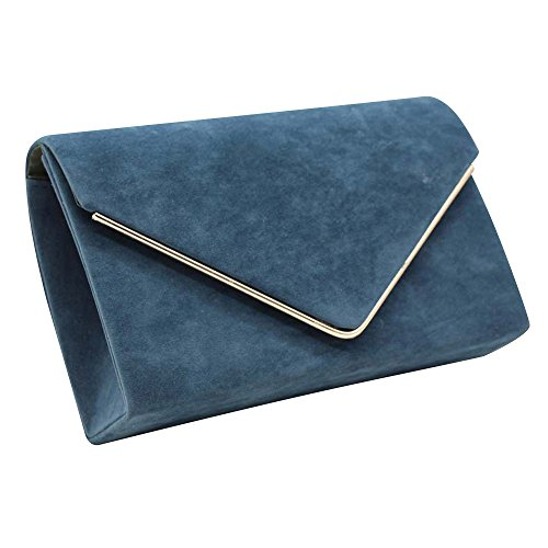 UK Wocharm Velvet Womens Evening New Bag Elegant Shoulder Handbag Suede Clutch Ladies Brand Envelope Prom Teal Post 6qwTUT