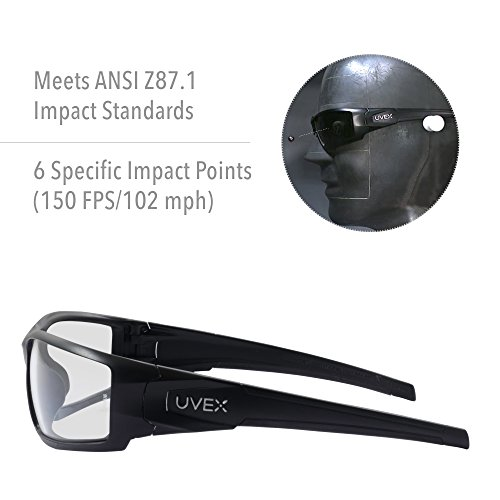 75d60129e5 Howard Leight by Honeywell Uvex Hypershock Shooting Glasses with  HydroShield Anti-Fog Lens Coating