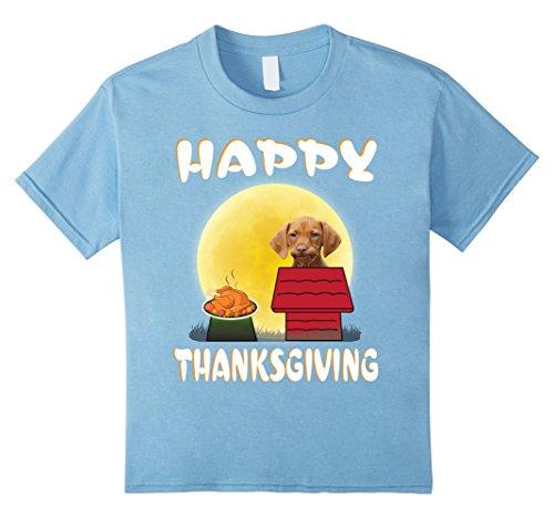 Toddler Hound Dog Costume (Kids Majestic Tree Hound Dog Costume Happy Thanksgiving T-Shirt 12 Baby Blue)