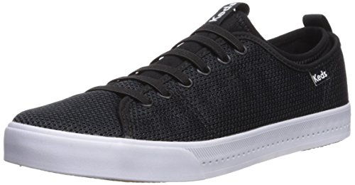 Keds Women's Driftkick Heathered Mesh Sneaker, Black, 6.5 M US