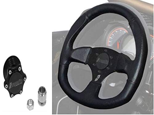 (Quick-Release Steering Wheel Kit by Dragonfire Racing fits All Polaris UTV RZR 570 900 1000 XP Turbo Ranger General)