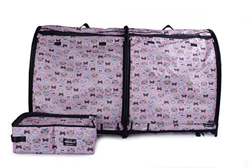 House, Kennel (Shelter),Portable, Foldable Travel,Waterproof,Car Seat-Belt Fixture Included(Pink) ()