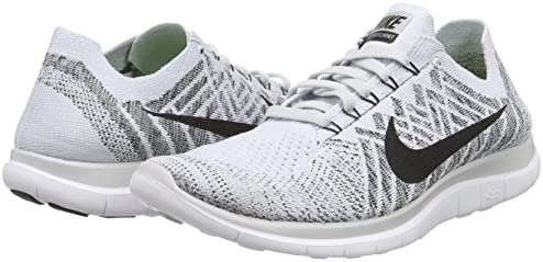 7d2b163a6ec6 Nike Mens Free 4.0 Flyknit Running Shoes Pure Platinum Blk White Cl Gry.  Loading images.
