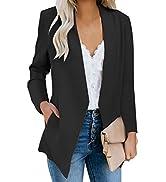 GRAPENT Women's Open Front Business Casual Pockets Work Office Blazer Jacket Suit