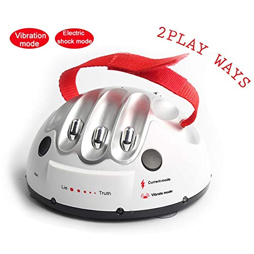 Ireav Electric Finger Lie Detector Shock Game Polygraph Shocking Truth Game Toy Party Game Entertainment Shock Game