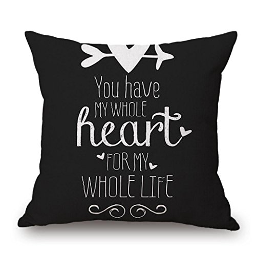 Bamboo Maple Bed - Pillow Cover, Jujunx Happy Valentine's Day Gift Throw Pillow Case Sweet Love Square Cushion Cover (E)